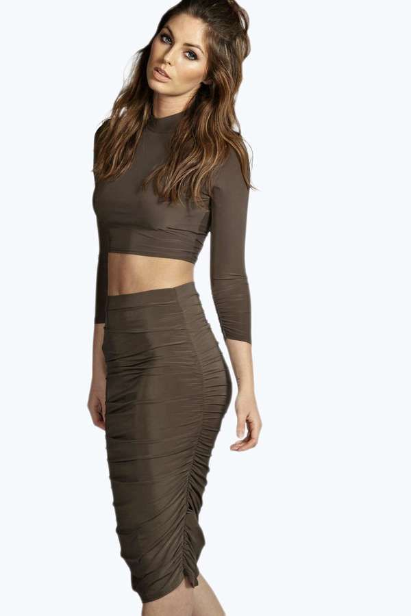Tan Long Skirt - Dress Ala