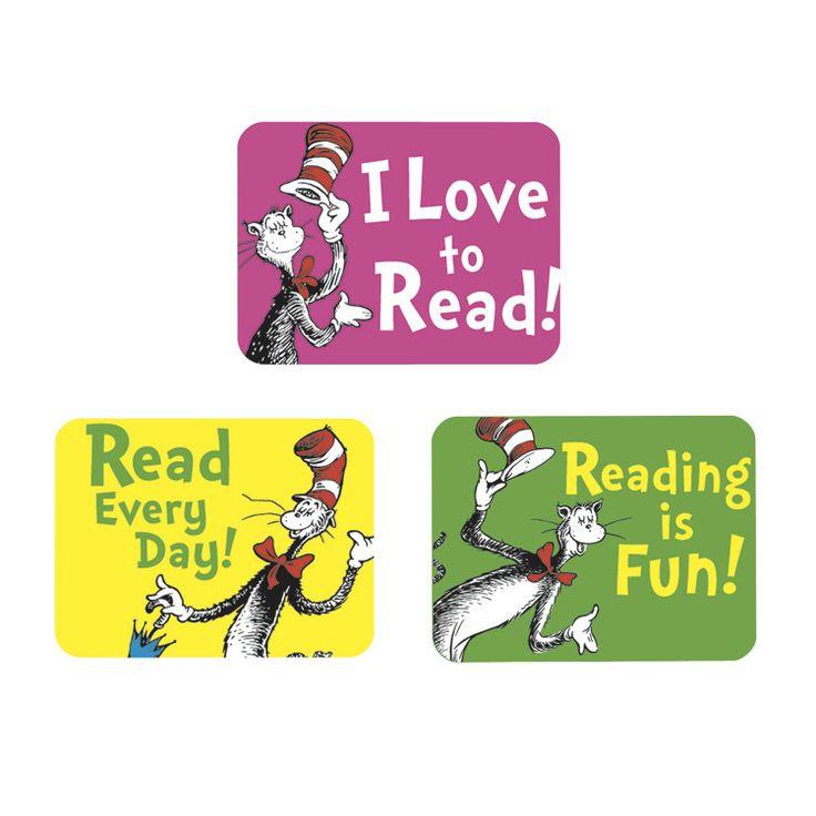 Dr. Seuss Cat in the Hat Success Reading Sticker - Dot NZ Shop