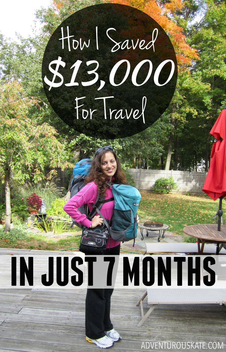Saving up enough money to travel long-term took discipline and dedication, and even changing my lifestyle.  Here's an exact breakdown of how I did it. | AdventurousKate.com