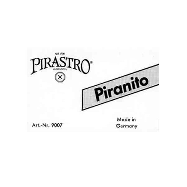 Violin Rosin Pirastro Piranito. A light rosin in an oblong shape which comes in a resealable plastic container. $9.00