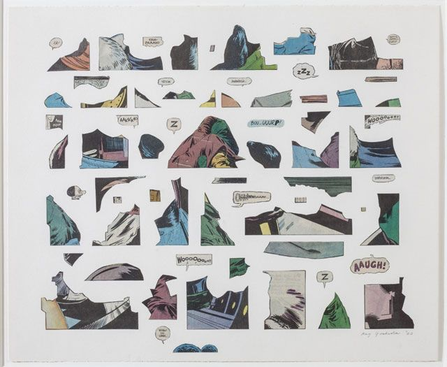 """Ray Yoshida, """"Eh!"""" (2000), cut paper on paper- In the story of postwar American art, the middle of the country typically gets short shrift. The work coming out of Chicago in the 1960s and '70s was gleefully weird, darkly surreal, and mostly fig..."""
