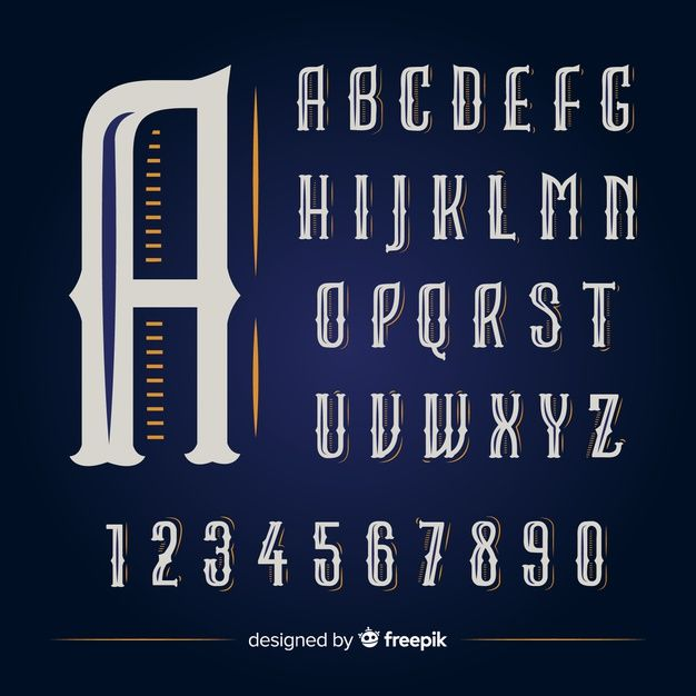 Vintage Alphabet Free Vector Free Vector Freepik Freevector