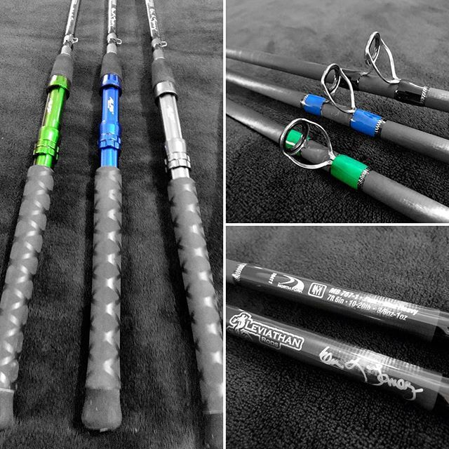 Three bay rods to match three Avet SX reels: @northforkcomposites