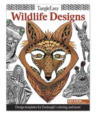 Tangle Easy Wildlife Designs Coloring Book