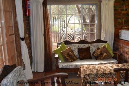 Lounge at Getaway Bush Self Catering House. Accommodation in Marloth Park.