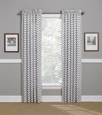 Gray Chevron Curtains. American Made Dorm & Home