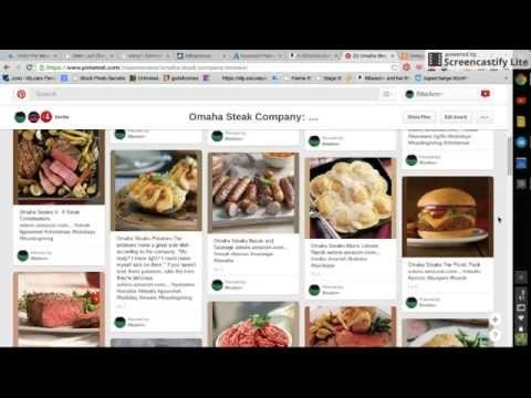 How To: Pin on Pinterest & Omaha Steak Reviews by RitaAnn~ - YouTube