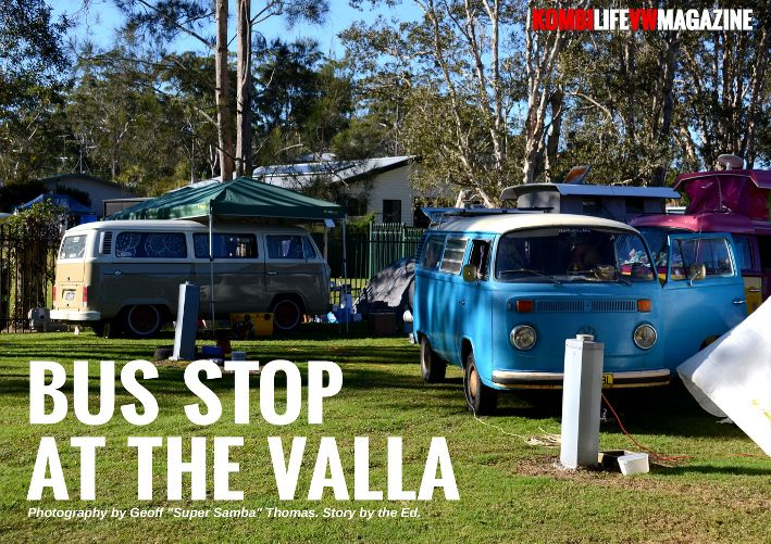 We drop in on some of the campers at the Valla Spectacular on the East Coast of Australia with Geoff Thomas and his stunning 2.4 litre Samba. www.kombilifemagazine.com