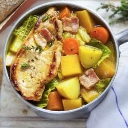 Irish coddled pork
