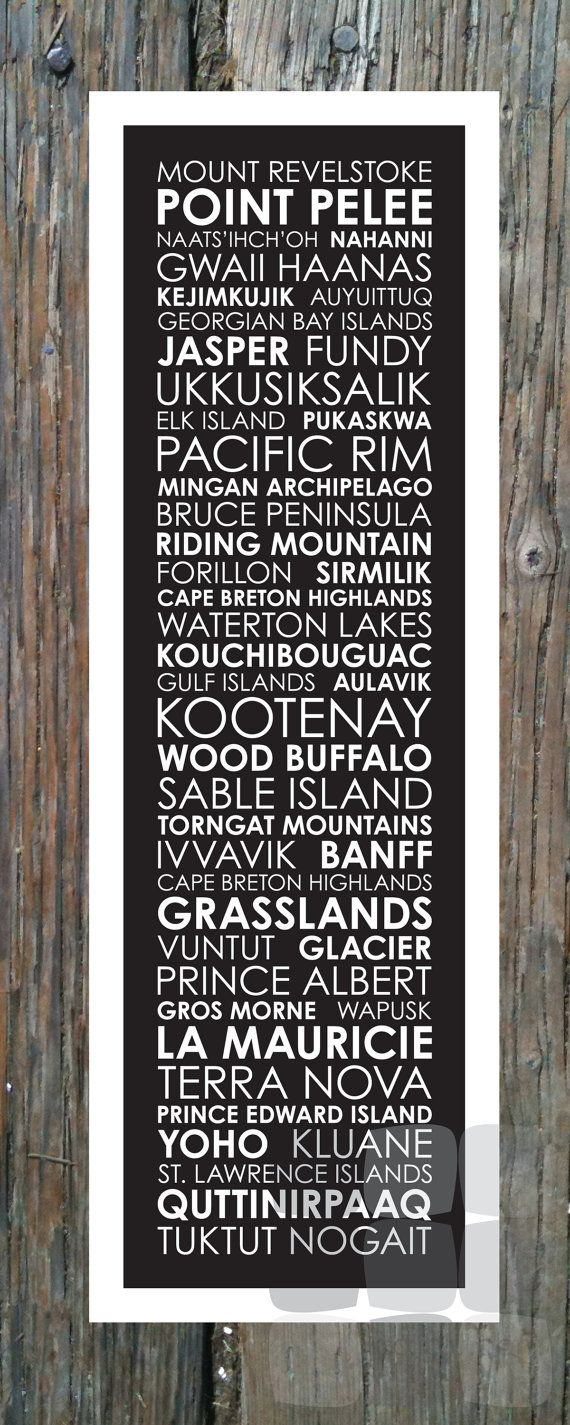 National Parks of Canada - Poster 12x36