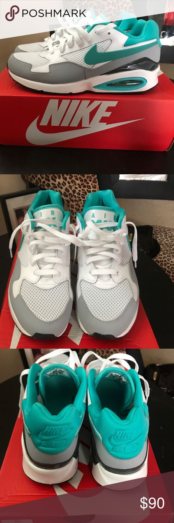 Women Sneakers White, Gray and Teal Air Max, women sneakers size 10 never worn Nike Shoes Sneakers