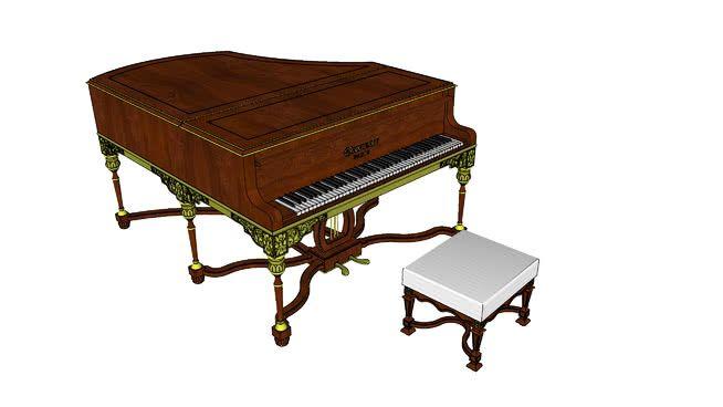 Large preview of 3D Model of Piano demi-queue Gaveau