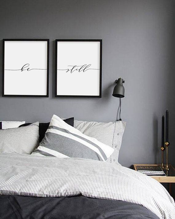 Be Still Print, Minimalist Typography Art, Bedroom Print, Be Still Poster  Yoga Wall Part 39