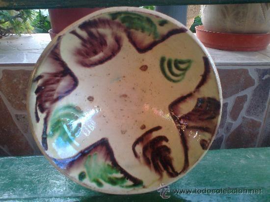 Antigua Fuente Vidriada De Nijar Coleccion Ceramica Y