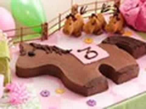 Pony birthday cake - How to make a pony cake
