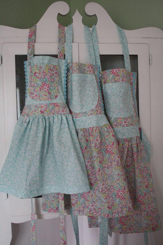 Sweet Little Girls Aprons Small Medium by FlutterBerryStudio, $22.00