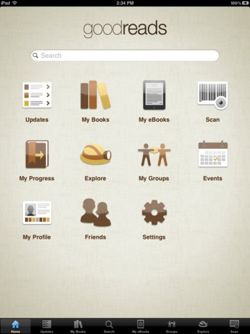 iPad Goodreads app - This should come in handy as my ...