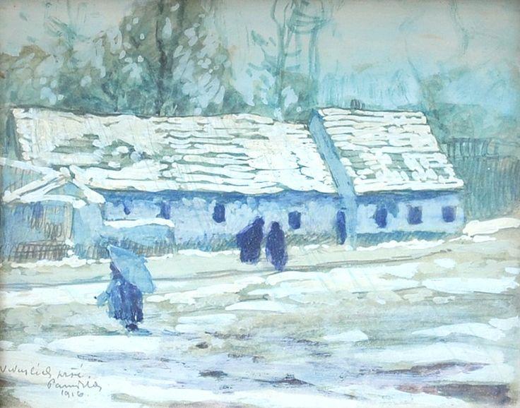 Jaroslav Panuška - V Nuslích prší (1916)