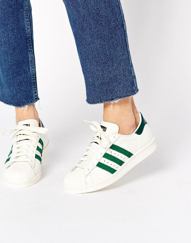 Des bombes  - Adidas Originals - Superstar 80's DLX - Baskets - Blanc et vert