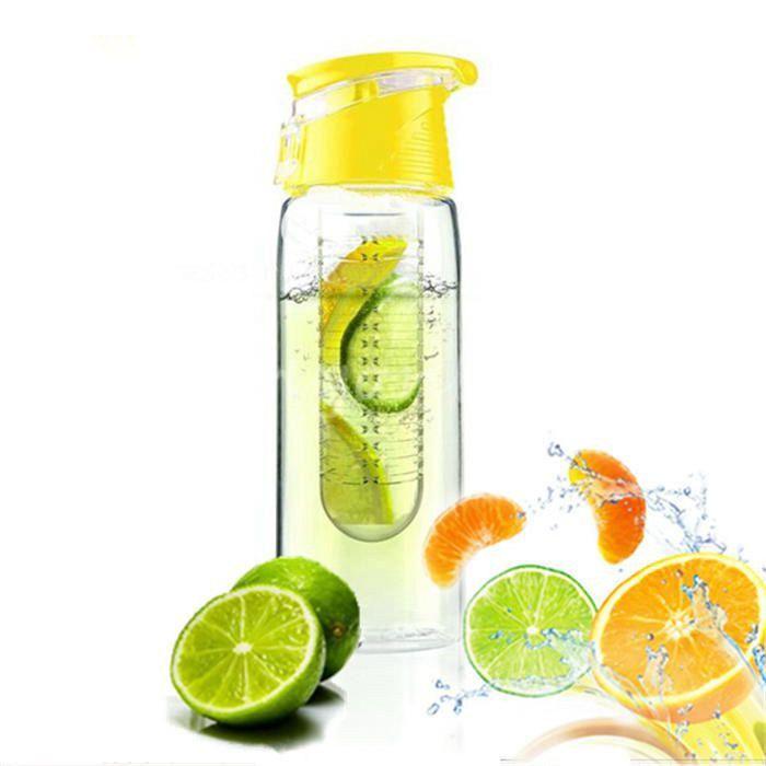Waterfles fruit filter