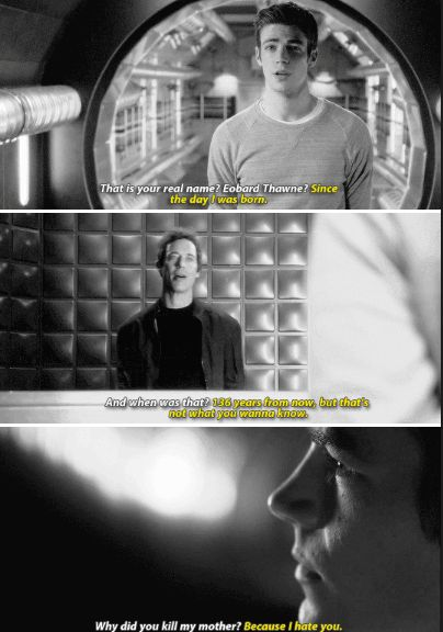 The Flash 1x23 - Not you now. You years from now. In the future, yes. We're enemies. Rivals. Opposites. Reverses of one another.