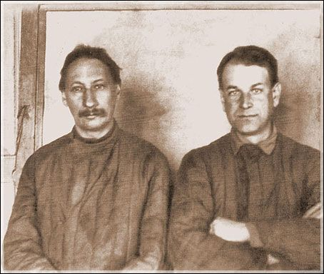 Pavel Aleksandrovich Florensky and Kapterev Pavel Nikolaevich in the camp.