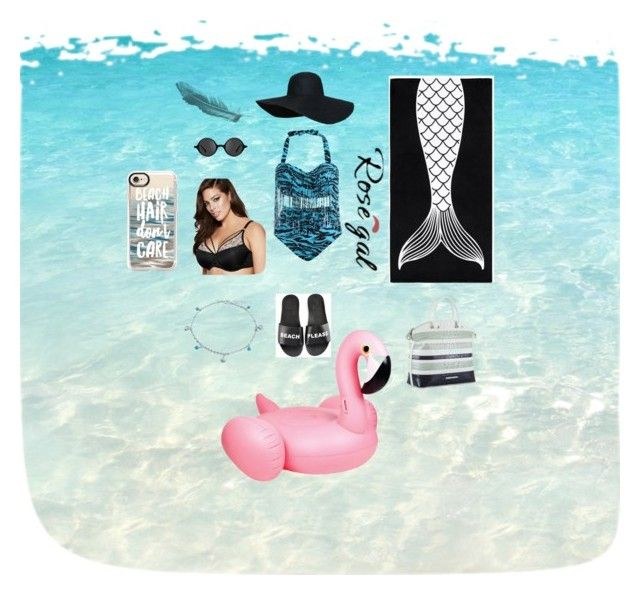 """Back off Beach"" by fangirl-everythang on Polyvore featuring Schutz, PBteen, Muse, Ashley Graham, Bling Jewelry, Brahmin, Sunnylife, Casetify, modern and ashleygraham"