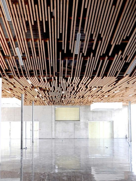 Slat Ceiling Yh Office Pinterest Architecture
