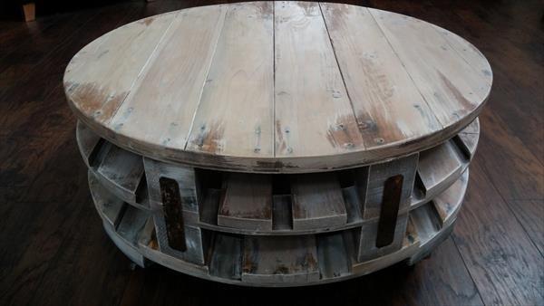 DIY Pallet Round Coffee Table | Pallet Furniture DIY