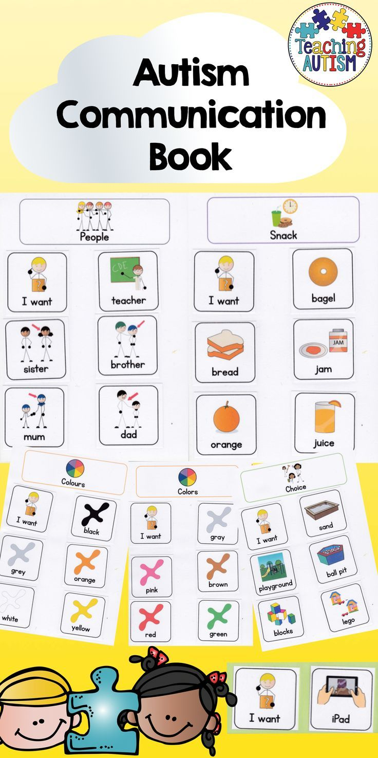 Communication Book; ASD, SEN, Autism, Speech Therapy, PECs, visuals, symbols  This is a communication book, created with symbols, different pages for different categories including; snack, choice, people, colors, colours, numbers. More pages can be added to suit you and pupil. This pack also includes numerous symbols for you to use in the book. Included is also a walkthrough PDF directing you on how to use the book, what way to put it together etc...
