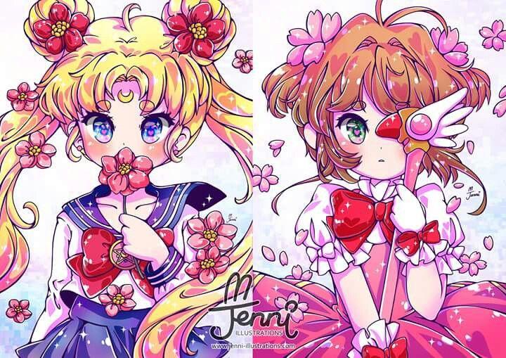 Sailor moon and sakura card captor