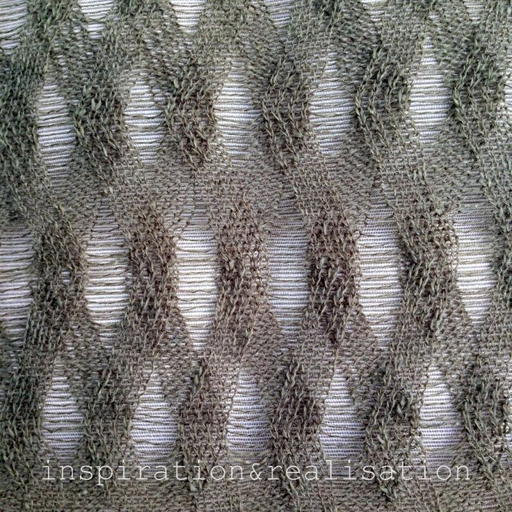OOW needle lace racked rib scarf tutorial