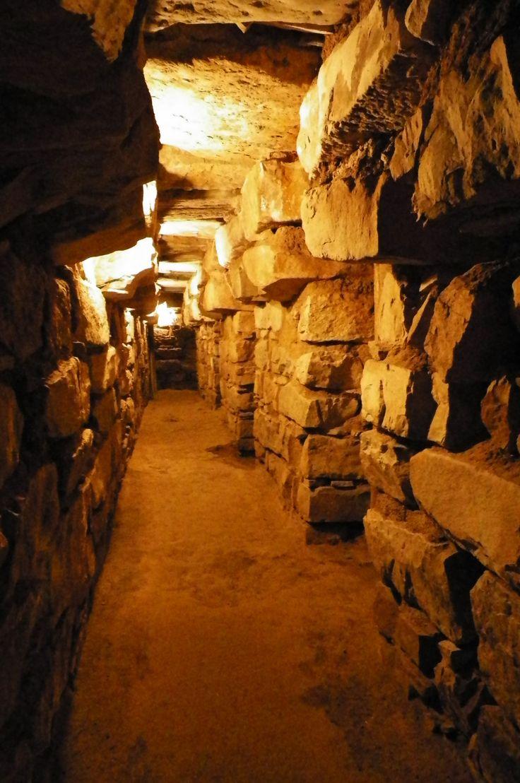 Passageways of Chavin de Huantar in Peru