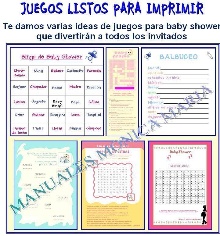 juegos para baby shower para imprimir gratis pdf