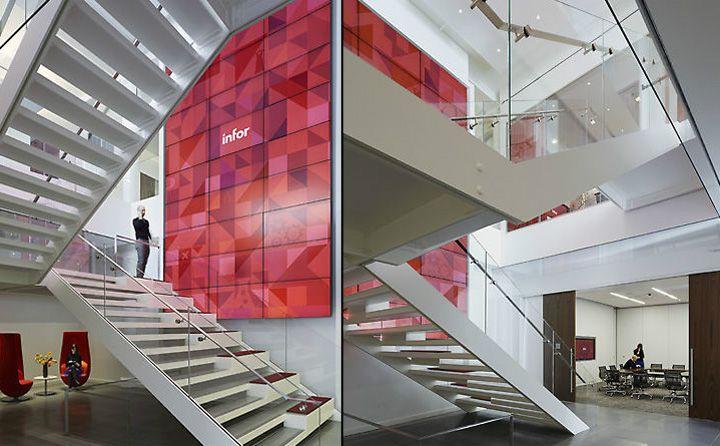 Булочка с корицей или стильный офис с изюминкой стартап-компании Infor Global Solutions от VOA Associates