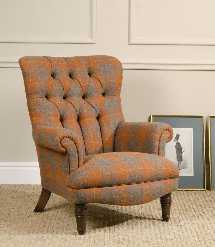 Tetrad Harris Tweed Calvay Chair From George Tannahill U0026 Sons