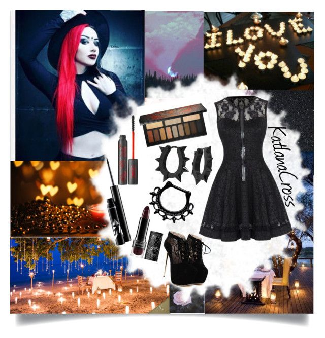 """""""Date Night with Ash Costello"""" by katlanacross ❤ liked on Polyvore featuring Kat Von D, West Coast Jewelry and contestentry"""