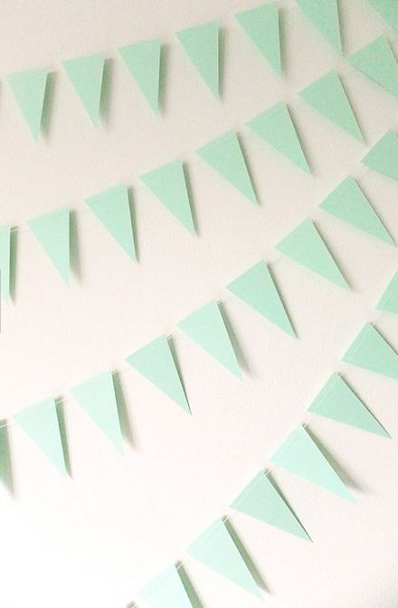 mint bunting #wedding