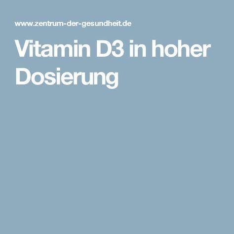 Vitamin D3 in hoher Dosierung