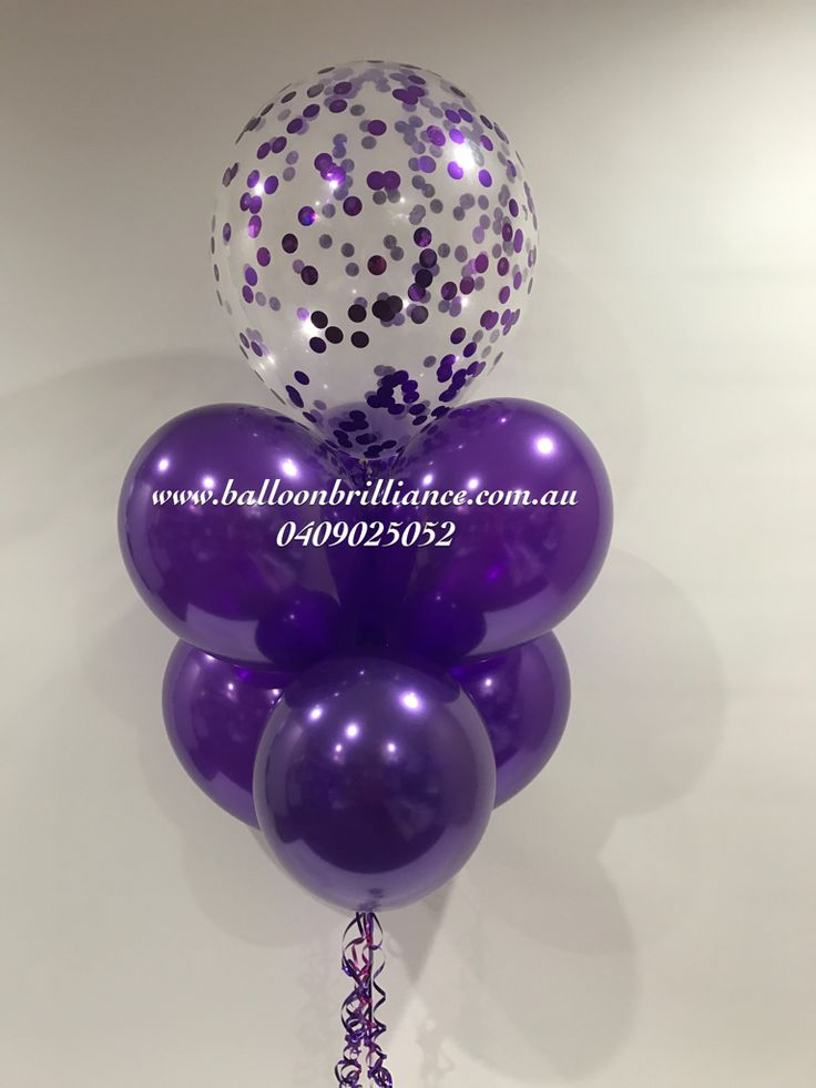 """Pretty purple birthday wishes"" #sendballoonscanberra #balloonseliverycanberra #confettiballoons #confettiballoonscanberra #purpleballoons #act #cbr #canberraballoons #BalloonBrilliance"