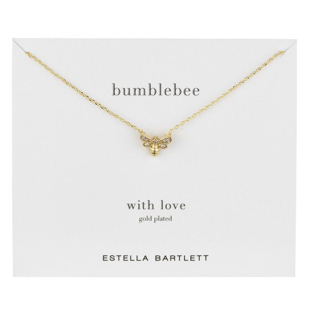 Bumblebee Necklace Gold Plate