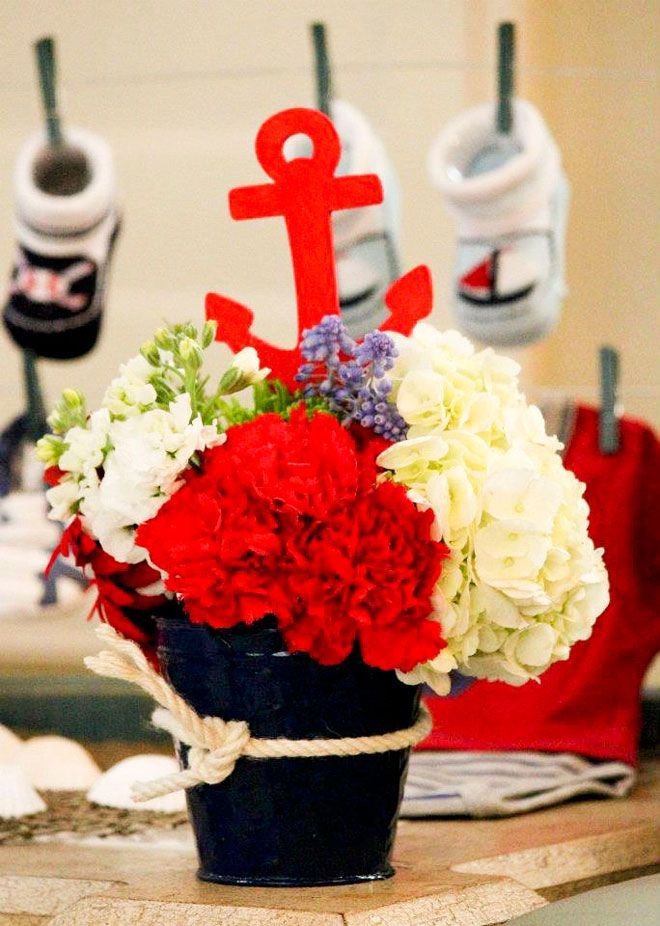 Customer Parties:: Nautical Baby Shower Party Feature-this would be good for anyones center piece!