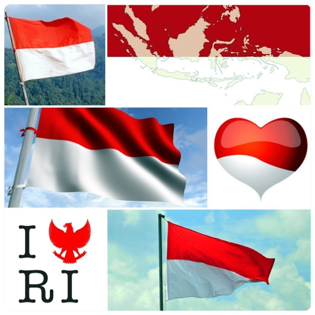 DIRGAHAYU INDONESIA KU! Aku Bangga jadi anak Indonesia! MERDEKA!!! HAPPY INDEPENDENCE DAY INDONESIA! I'm proud to be Indonesian!!