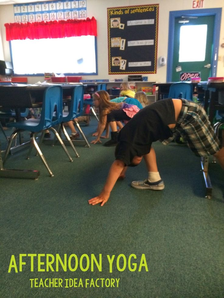 Yoga Brain Breaks for Kids. Great way to help kids refocus before jumping into learning again.