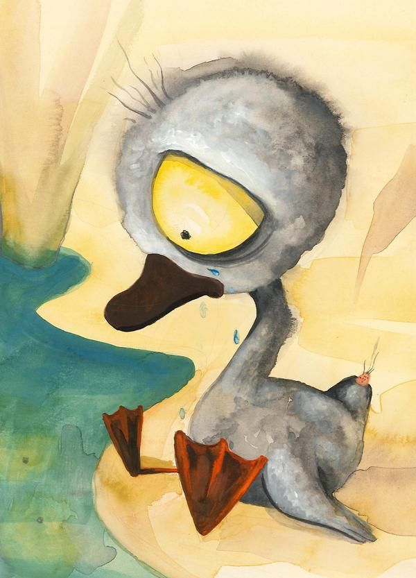 Ugly Duckling by Dragana Svilar, via Behance   There is this one that thinks she's a swan but she's just a fucking duck.
