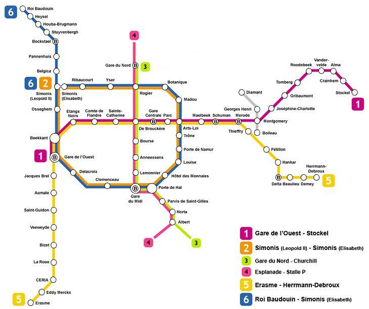 Transporte en Bélgica. Muévete en tren.Callejeando por el mundo