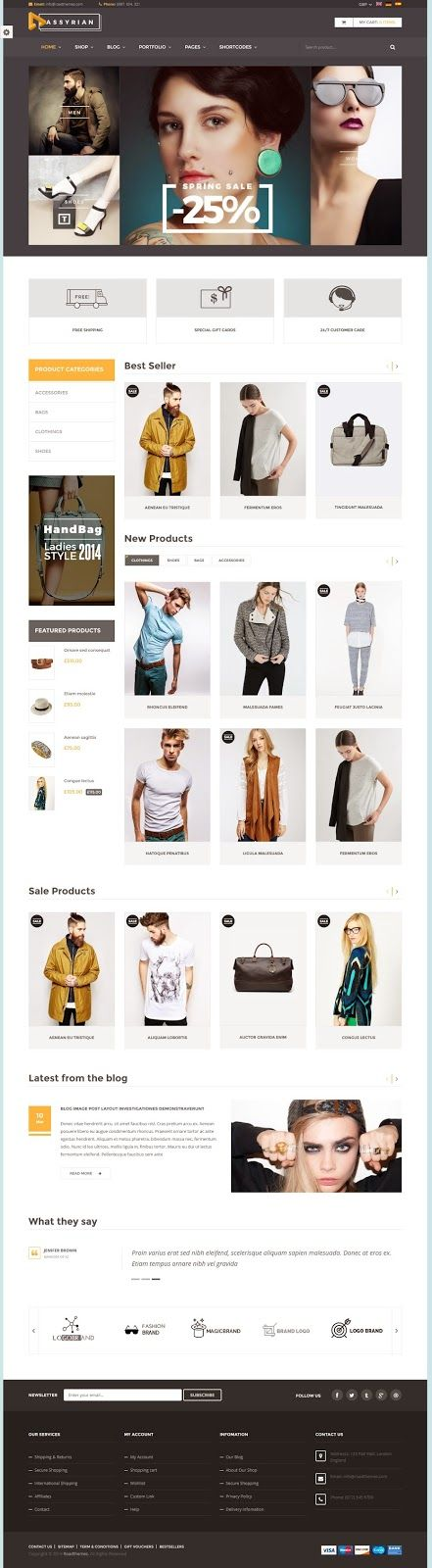 Assyrian is responsive #eCommerce #WordPress theme is suitable for #fashion… - Love a good success story? Learn how I went from zero to 1 million in sales in 5 months with an e-commerce stor