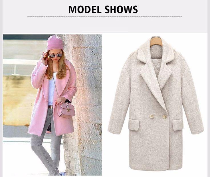 Зимняя куртка женщин длинный рукав широкий талией шерстяное пальто женщин теплый шинель 2015 новинка BN439 купить на AliExpress