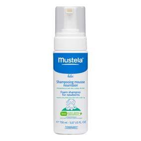 Mustela Shampoo recién nacidos 150 ml. Shampoo ultra suave. favorece la eliminación de la costra láctea. no irrita los ojos, fácil de enjuagar.