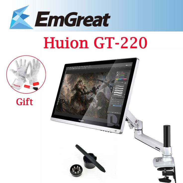 "802.45$  Watch now - http://alirqj.worldwells.pw/go.php?t=32251280178 - ""New Huion GT-220 21.5"""" 1080P IPS Display Digital Tablet Graphic Drawing Monitor + Articulating Foldable Monitor Desk Mount Stand"""